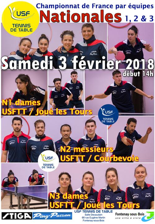 Championnat de france par quipes us fontenaysienne - Championnat de france tennis de table ...